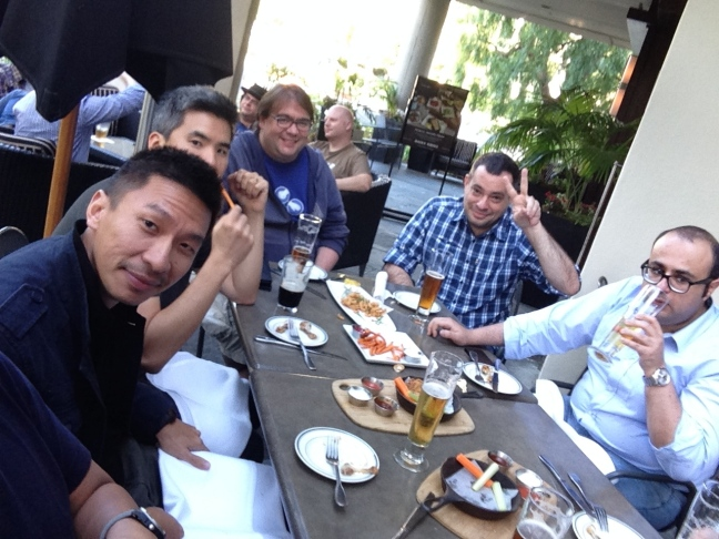 Kiri ke kanan: Jeff Oon (Singapura), Jim Hu (Amerika), Karel Rodriguez (Spanyol), Cassiano Gobett (Brasil), Mohab Maghdy (Mesir)